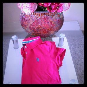 US Polo Shirt hot pink